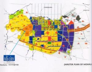 tdi city sector-117-118-119 Location on Mohai Master Plan