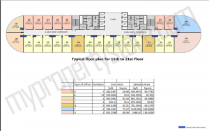 typical floor plan for 11 th to 21st floor