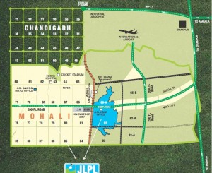 JLPL-2bhk-plus-study-room-sector 66-A-mohali-location-map