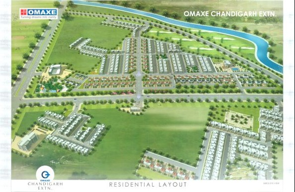 Omaxe Chandigarh extn Omaxe Chandigarh Extn 200 / 300 /500 Sq Yards Residential Plots in New Chandigarh Mullanpur